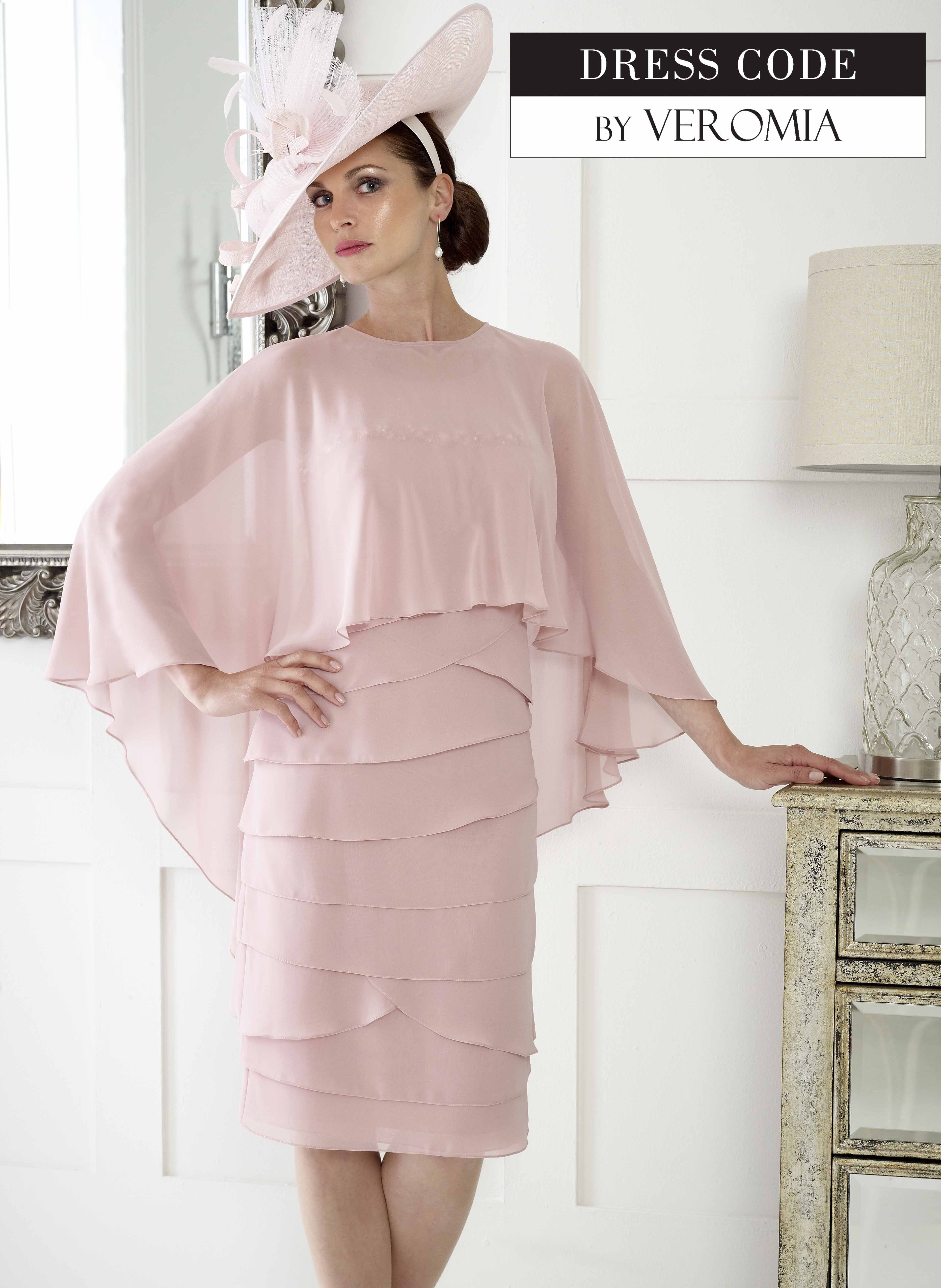 Dressed Up By Veromia Blush Pinky Layered Dress with Overlay Jacket ...