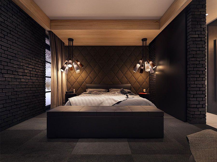 Camera Da Letto Padronale Significato : Camera da letto nera idee per arredi di design in stile dark