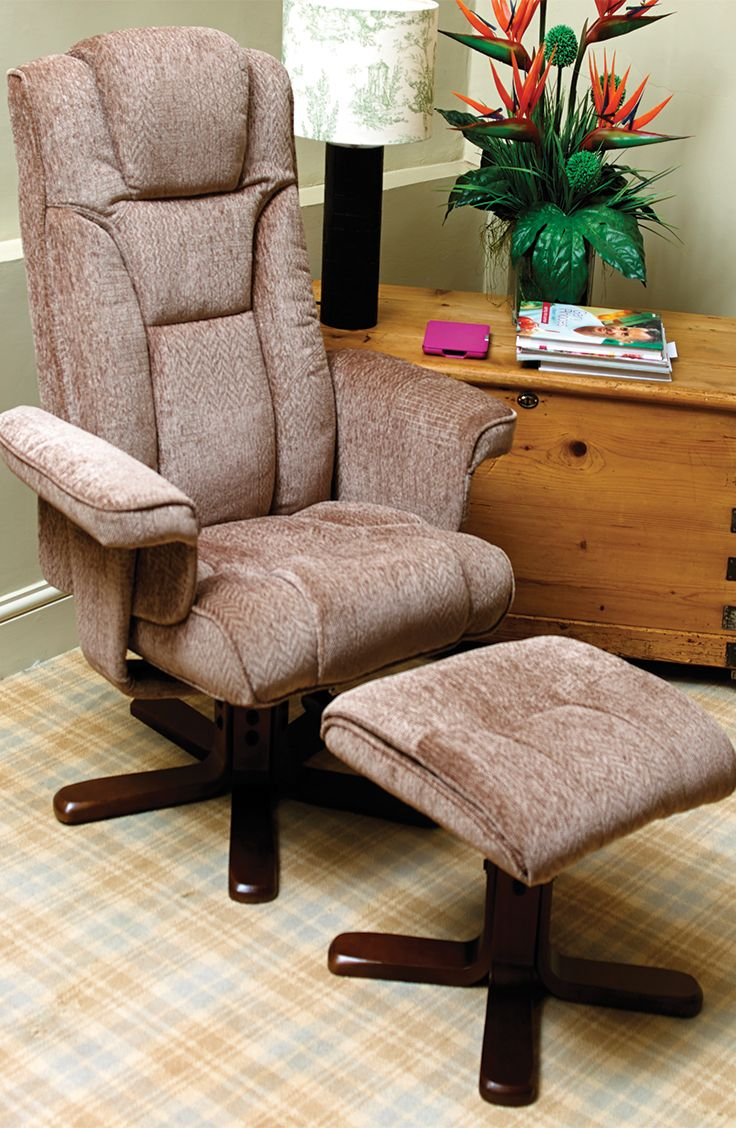 High quality swivel recliner the Lloris is upholstered in