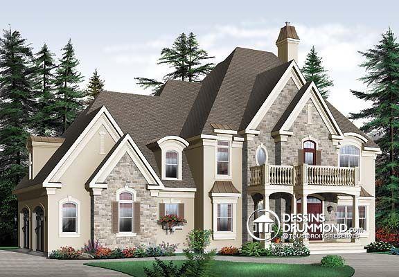 Plan de Maison unifamiliale W3837, champêtre, country, house style