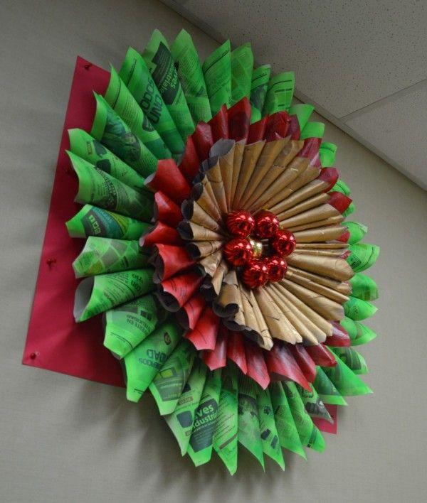 Decoraci n de navidad con materiales reciclados - Decoracion navidad infantil manualidades ...