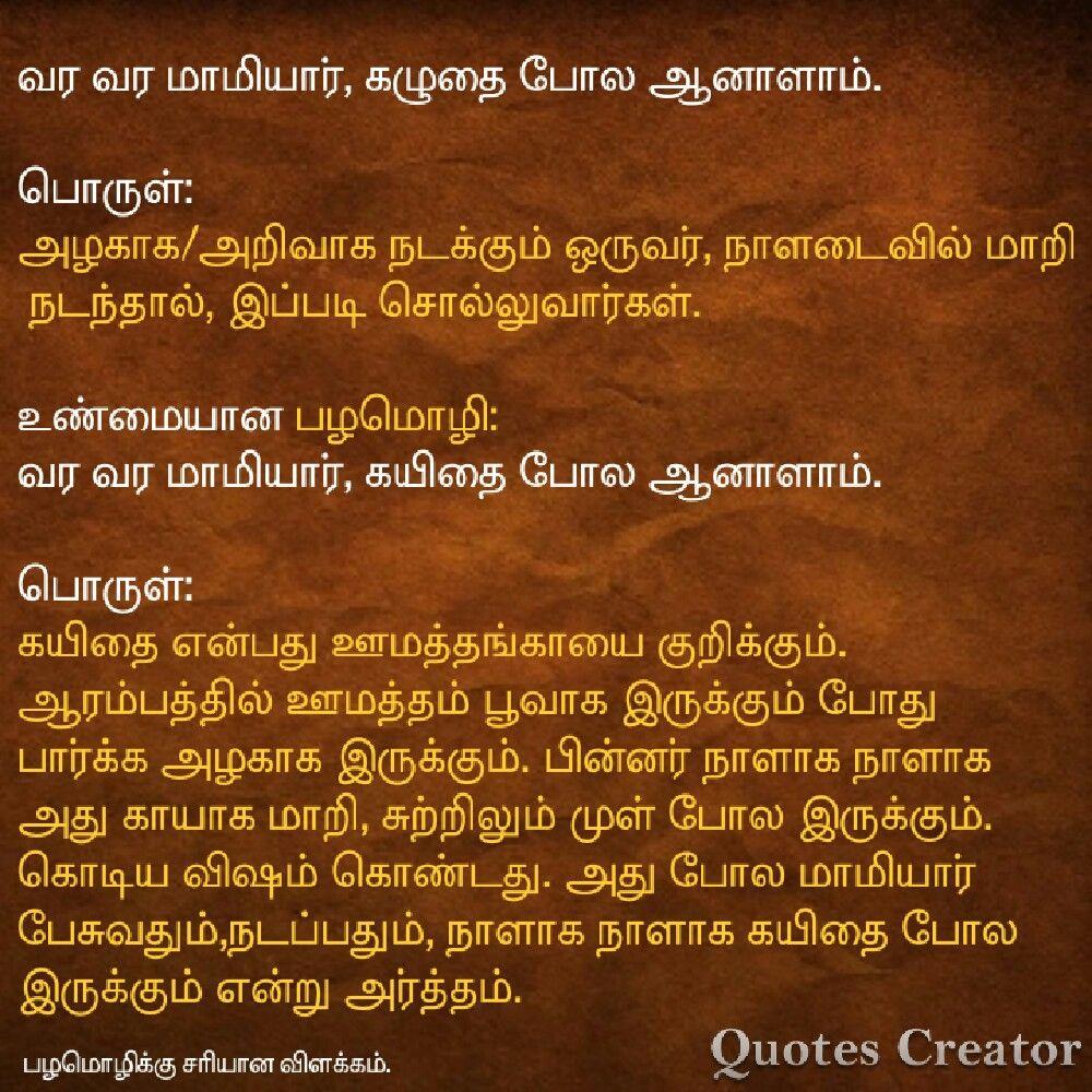 Pin by Arun kumar Velusamy on பழமொழிக்கு சரியான விளக்கம் ...