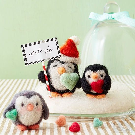 how to make needle felted penguins christmas pinterest friend