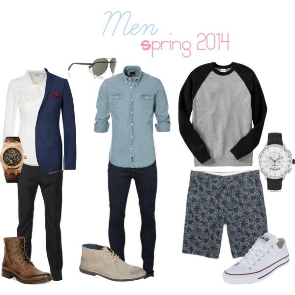 """""""Men Spring 2014"""" by lorraine-andrade-marques on Polyvore"""