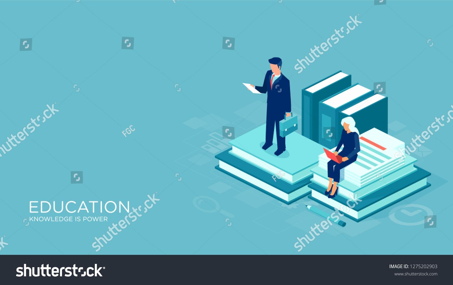 Education And Learning Isometric Vector Concept
