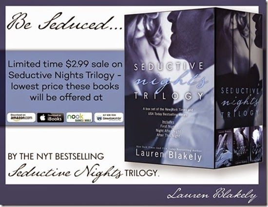 On Sale: Seductive Nights Trilogy by Lauren Blakely