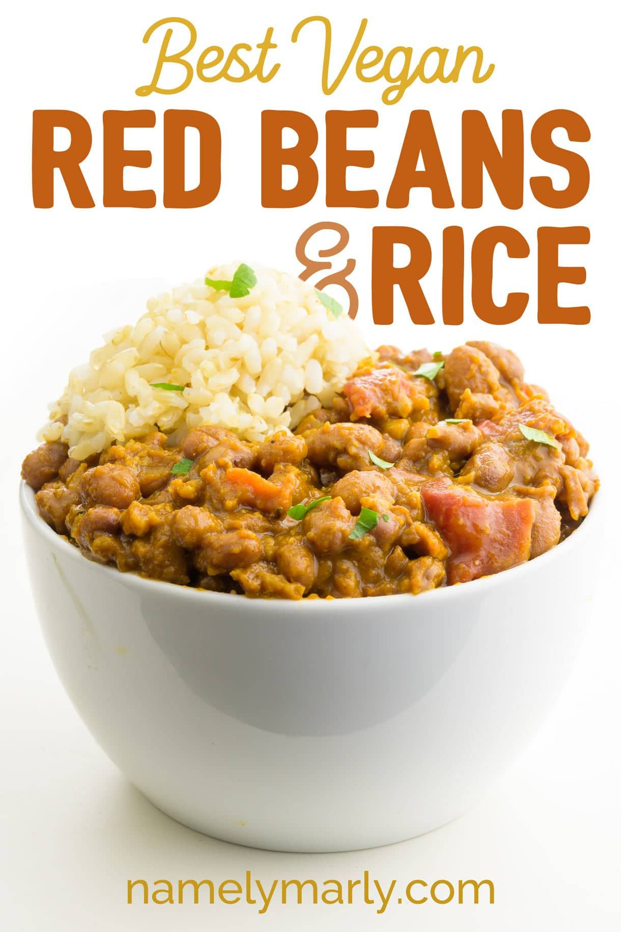 This Vegan Red Beans And Rice Recipe Could Be Described As A Hearty Comfort Food Serve This Vegetarian Red Beans And Rice With With Cornbread With Images Vegan Comfort Food