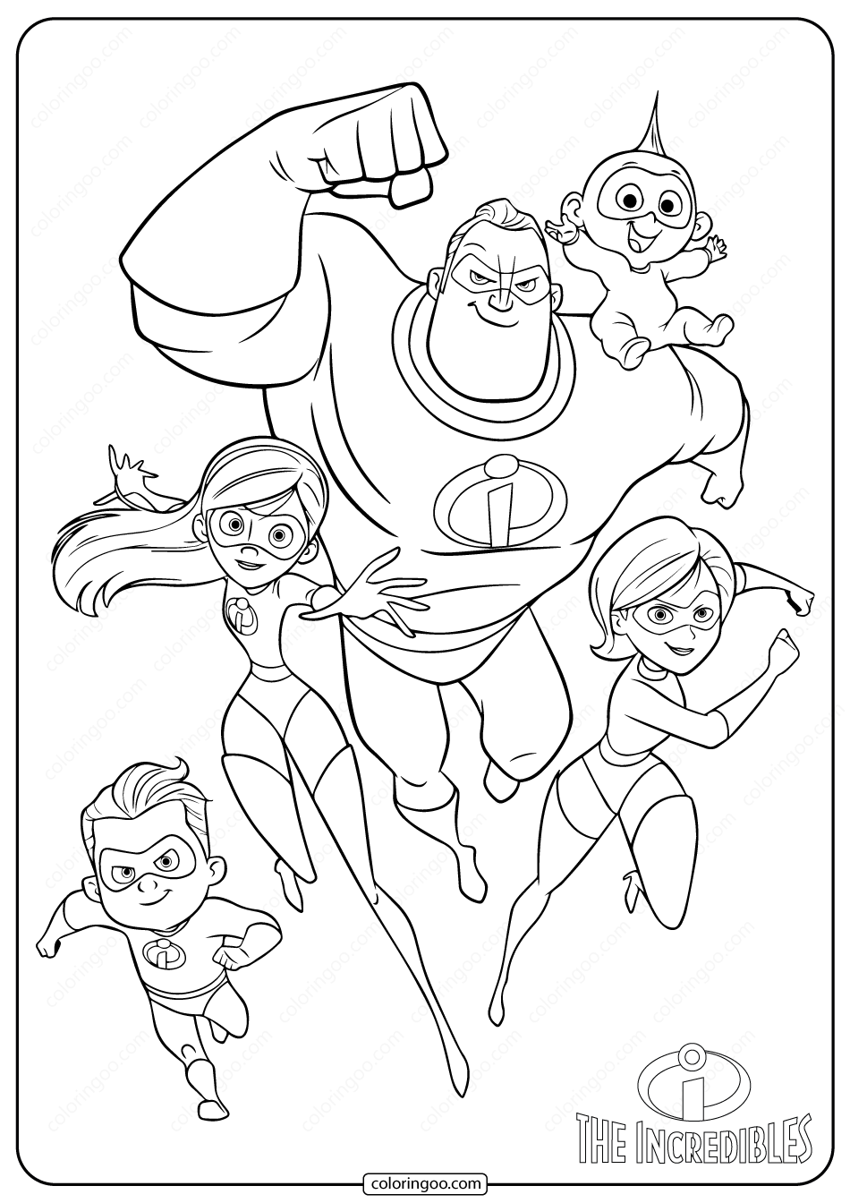 The Incredibles Family Coloring Pages In 2020 Disney Character Drawings Family Coloring Pages Family Drawing