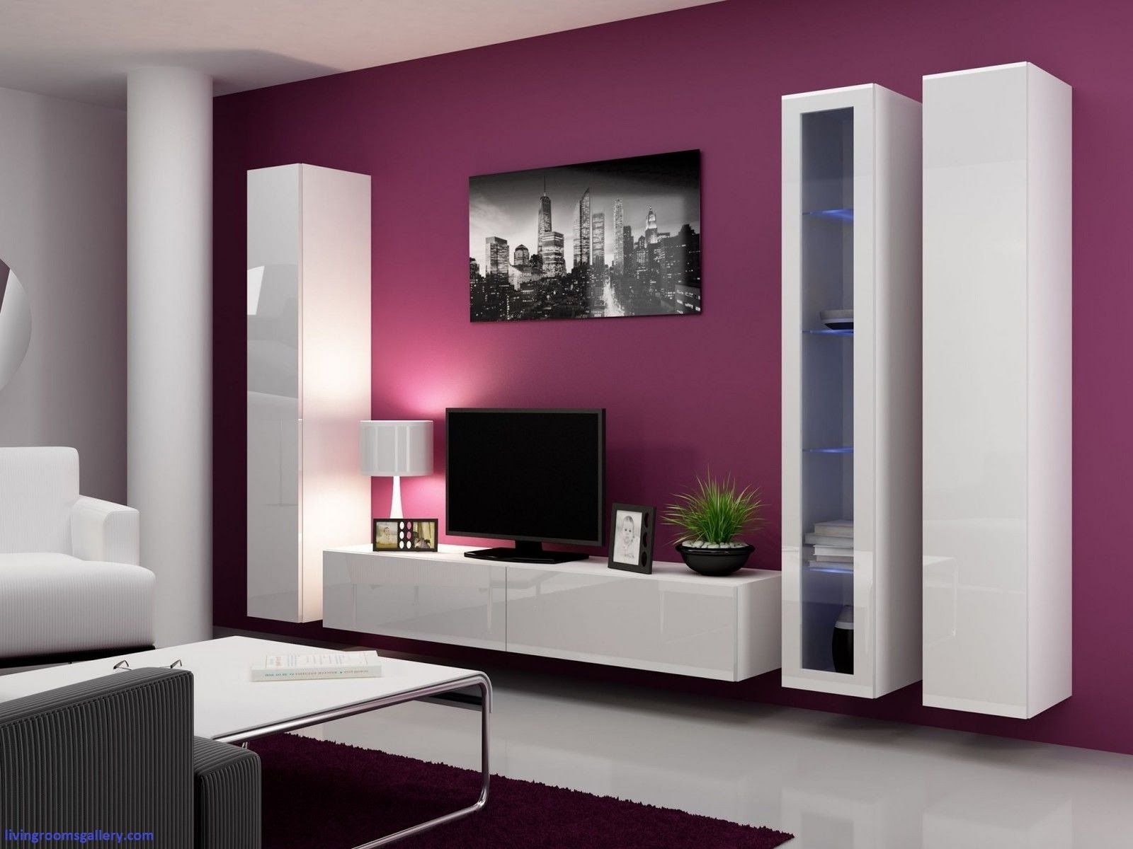 modern cupboard designs photo - 3 | Living room wall units ...