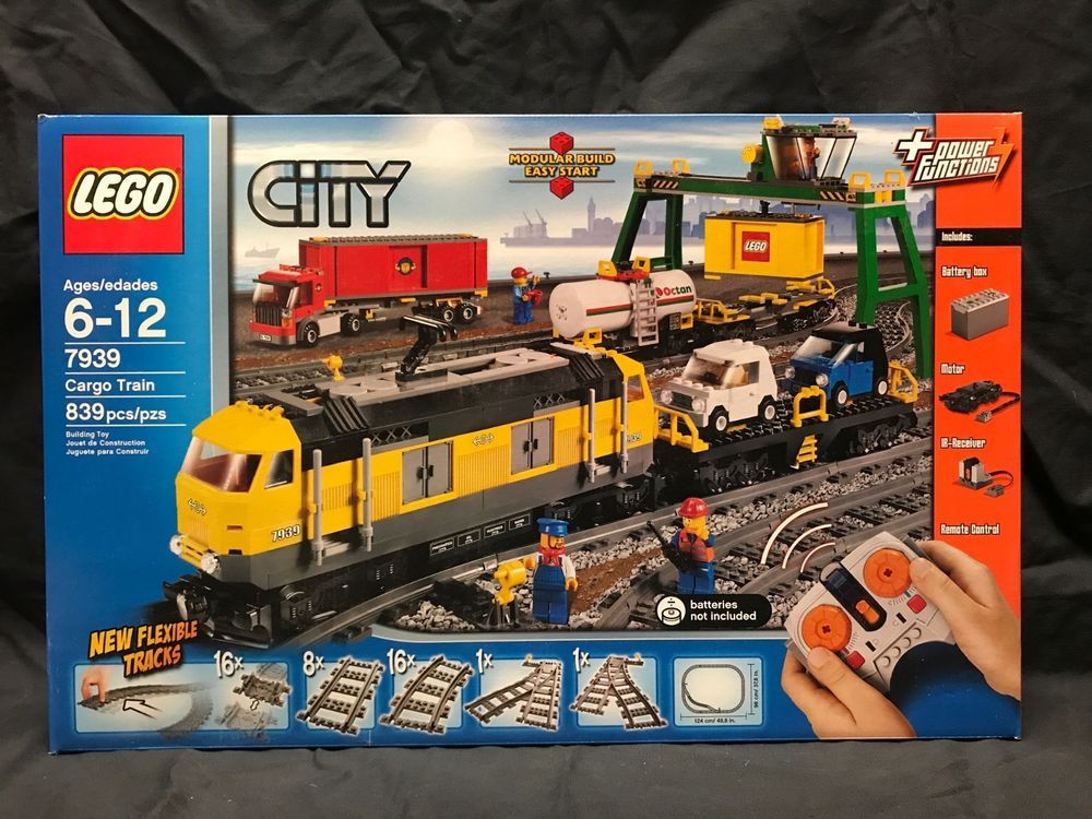 Lego 7939 Complete Town Railroad Sealed Set City Cargo Train New NOPw0kX8nZ