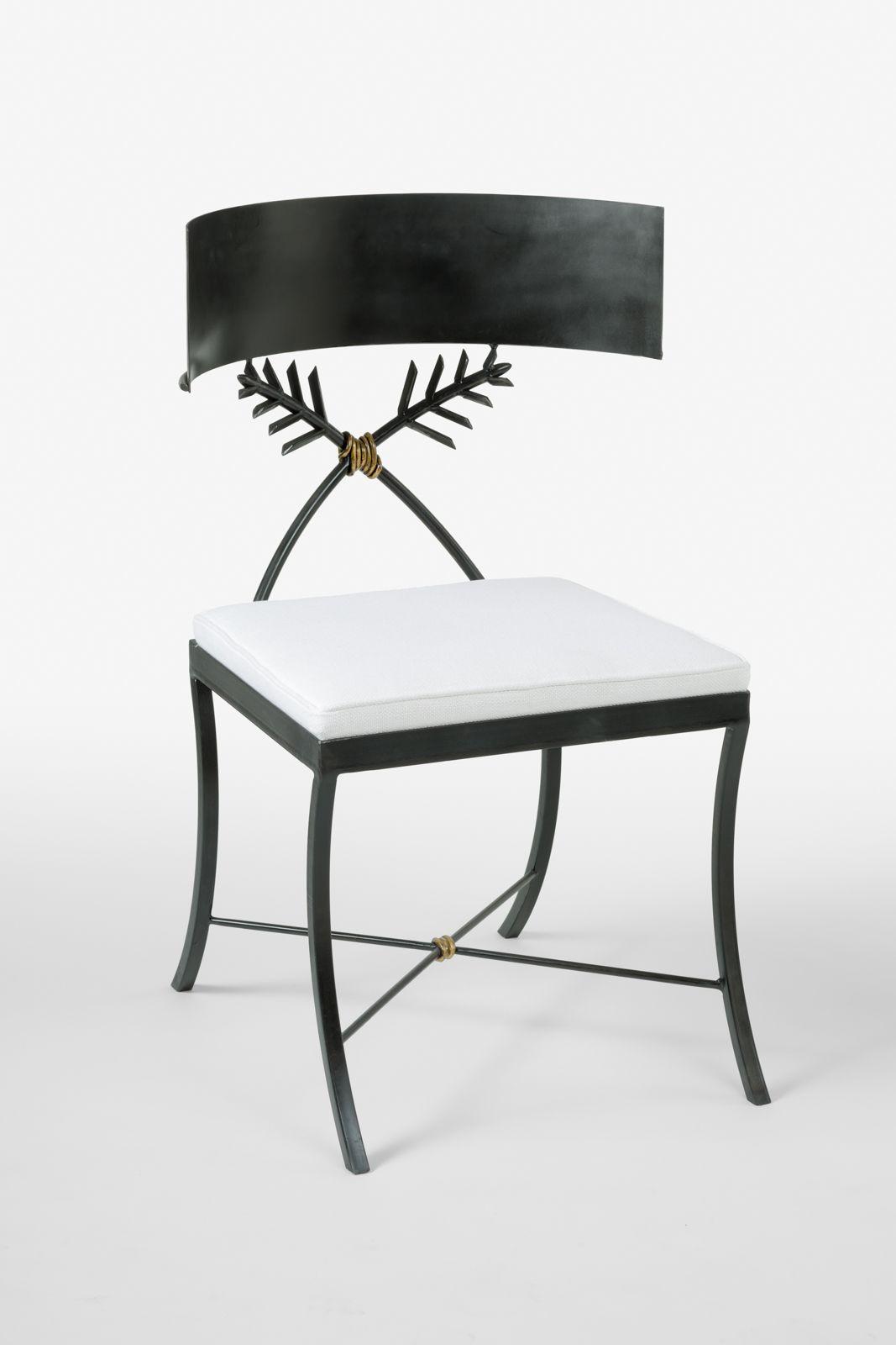 IRON KLISMOS CHAIR  Klismos chair, Klismos, Unique chair