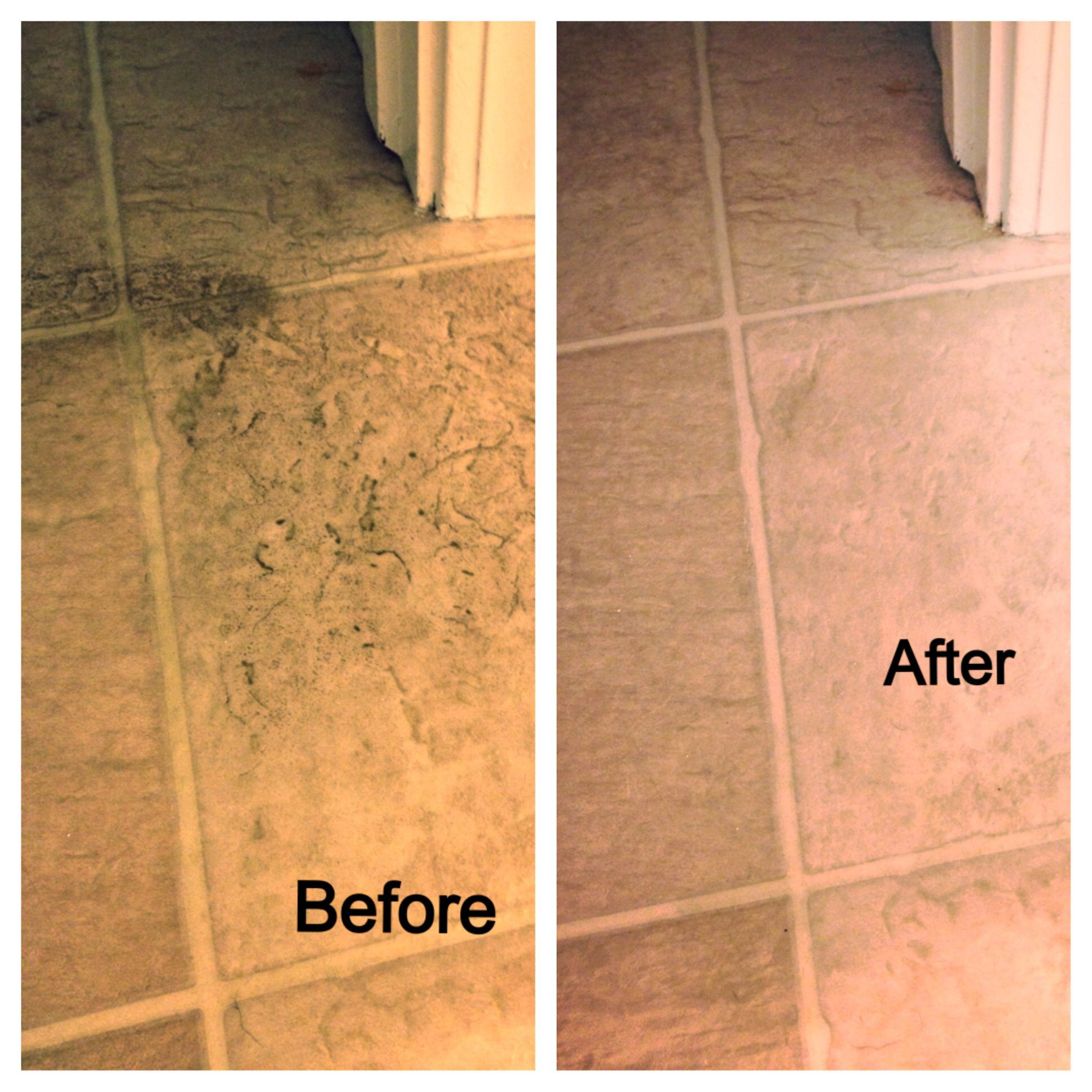 Grimy Impossible To Clean Old Vinyl Flooring Don T Throw It Out
