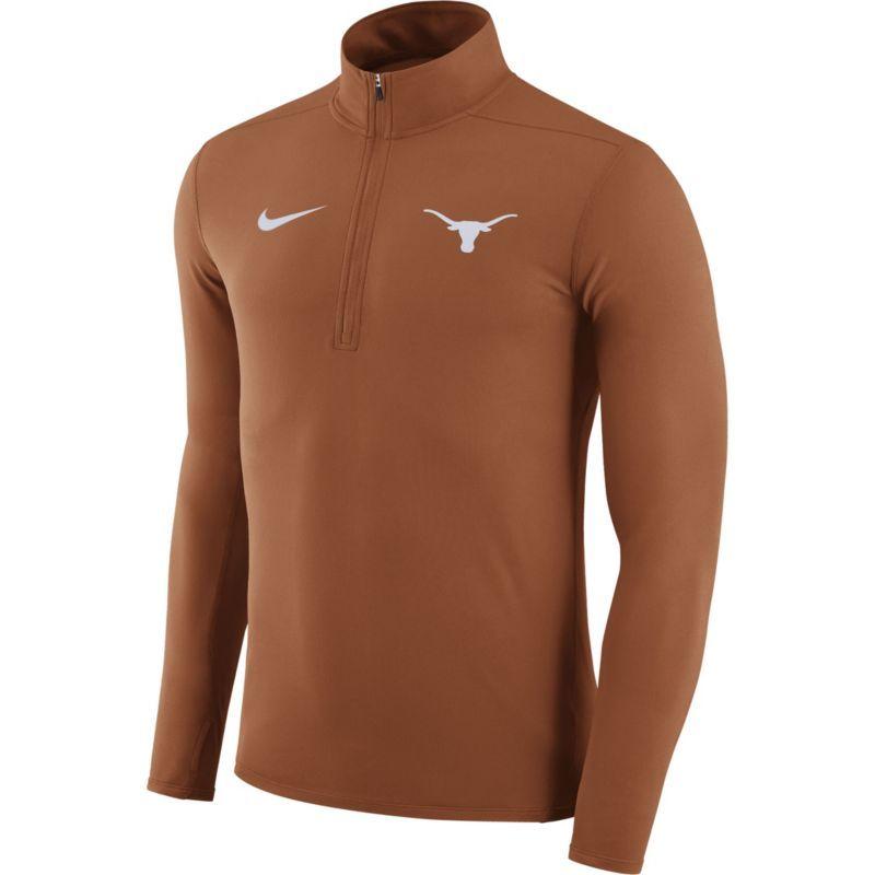 Nike Men's Texas Longhorns Burnt Orange Element Performance Quarter-Zip,  Size: Medium,