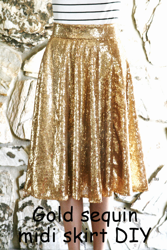 f8047a1297 DIY: Gold sequin circle skirt; midi and maxi | Share Today's Craft ...