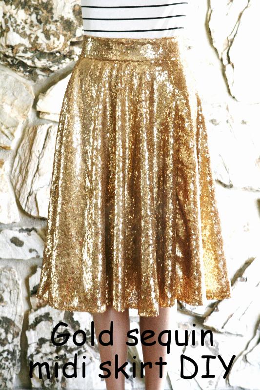 0bc68e20483 DIY  Gold sequin circle skirt  midi and maxi