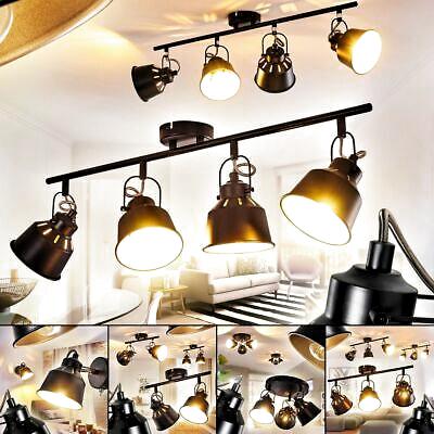 Vintage Wand Decken Lampe schwarz//gold Wohn Schlaf Zimmer Leuchten Flur Strahler
