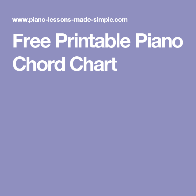Free Printable Piano Chord Chart Music Pinterest Pianos Sheet