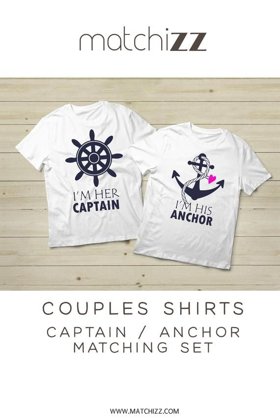 10d9829e Couple Cruise Shirt Couples His and Hers Cruising Gifts Captain and Anchor Matching  Shirts