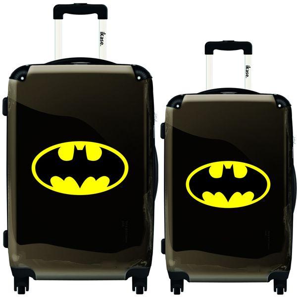 iKase Yellow Batman 2-piece Hardside Spinner Luggage Set by iKase ...