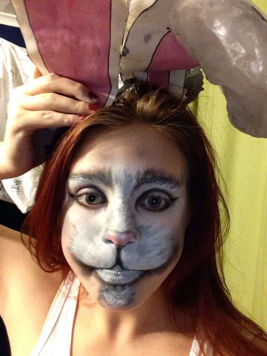 The White Rabbit Makeup from Alice in Wonderland xx | halloween ...