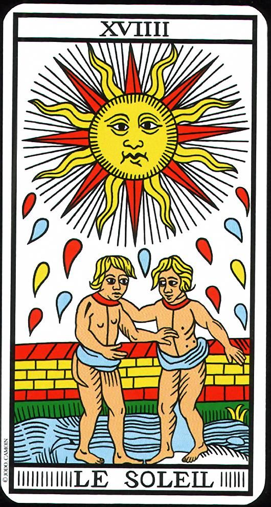 The Sun - XIX - Major Arcana | Tarot de Marseille (Camoin-Jodorowsky)