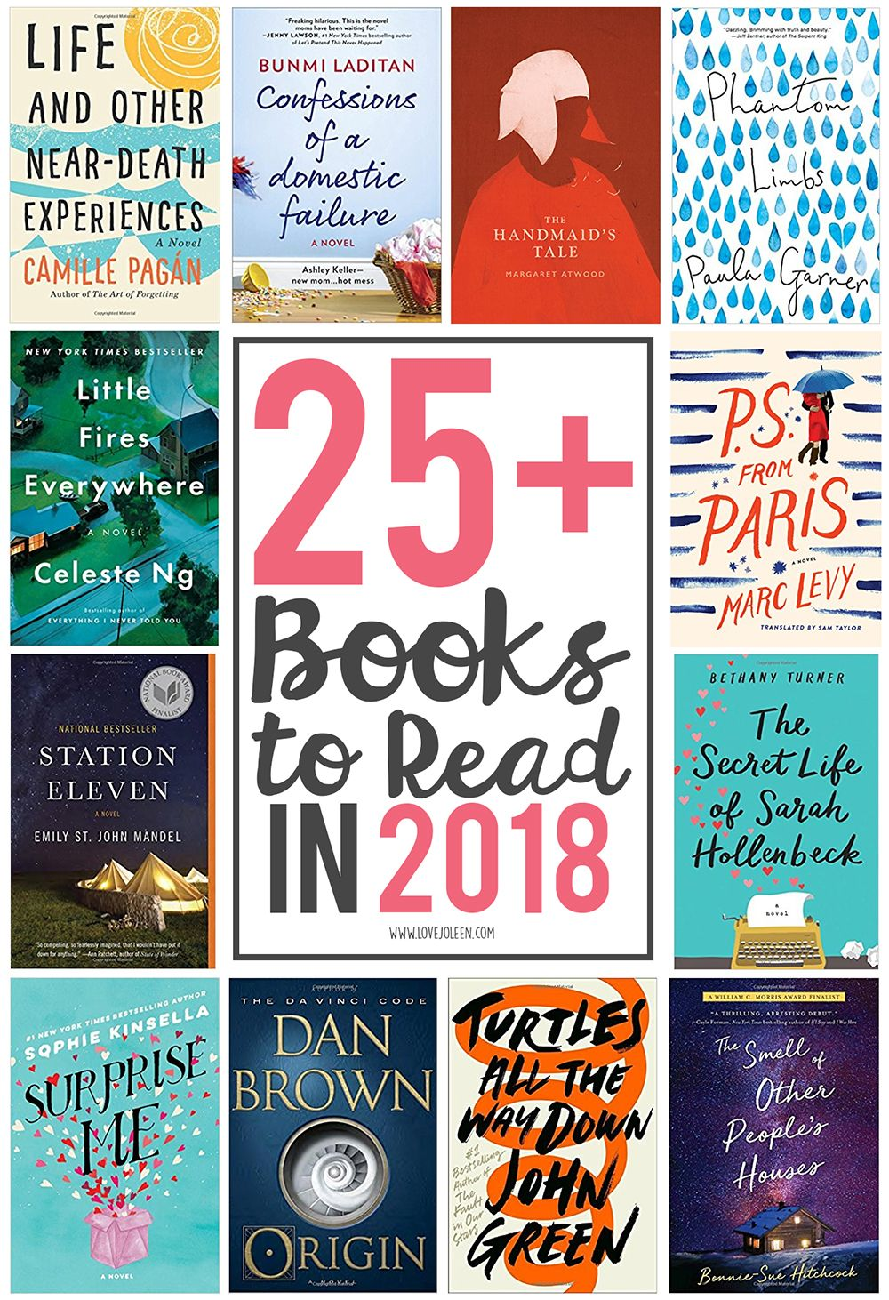 Love, Joleen: 25+ Books to Read in 2018  books  booklist  bookclub  bookstoread  booknerd    One of my personal goals every year is to challenge myself to read a certain number of books. I've been using GoodReads for close to a de...