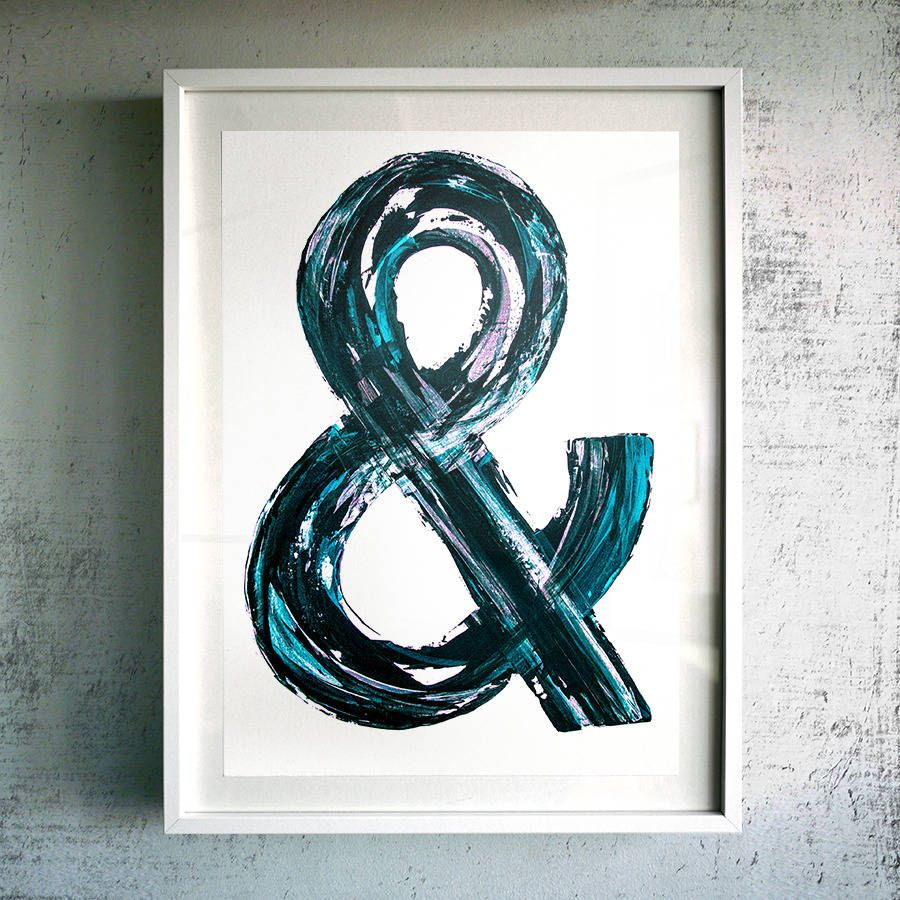 Are You Interested In Our Typographic Painting Art Print