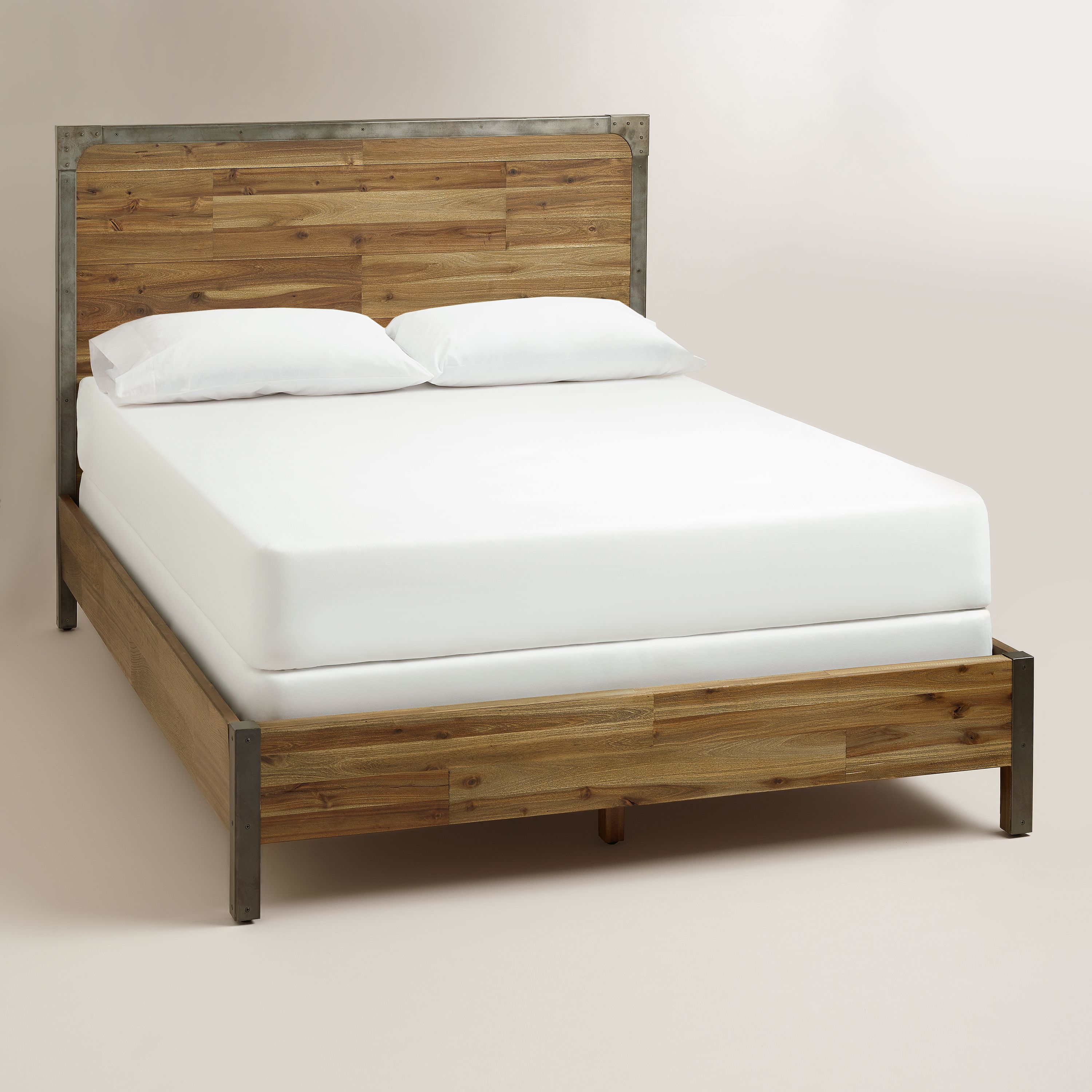 Pictures Of Beds Wood And Metal Aiden Bed  Metal Accents Rustic Wood And Nightstands