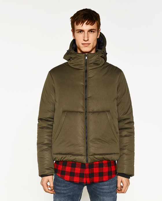 ZARA - QUILTED JACKET WITH HOOD