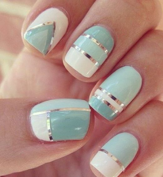 17 Fashionable Mint Nail Designs for Summer: #5. Mint Nail Design for Prom - 17 Fashionable Mint Nail Designs For Summer Nail Ideas Pinterest