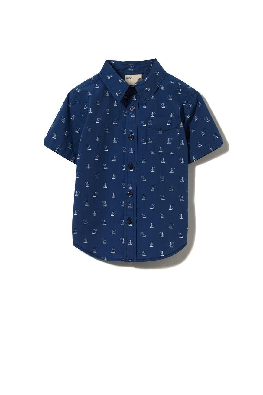 5d5a2ca583f Jackson S/Slv Shirt- Boys short sleeve shirt, slim fit with button ...