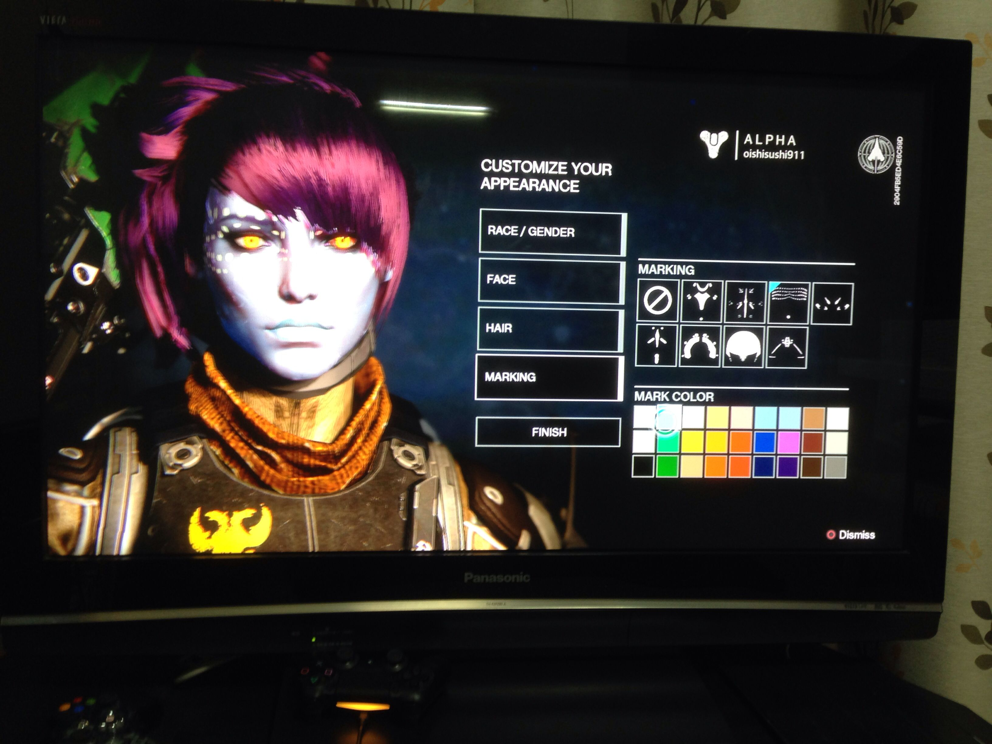 Destiny First Alpha (PS4): character creation (awoken ...
