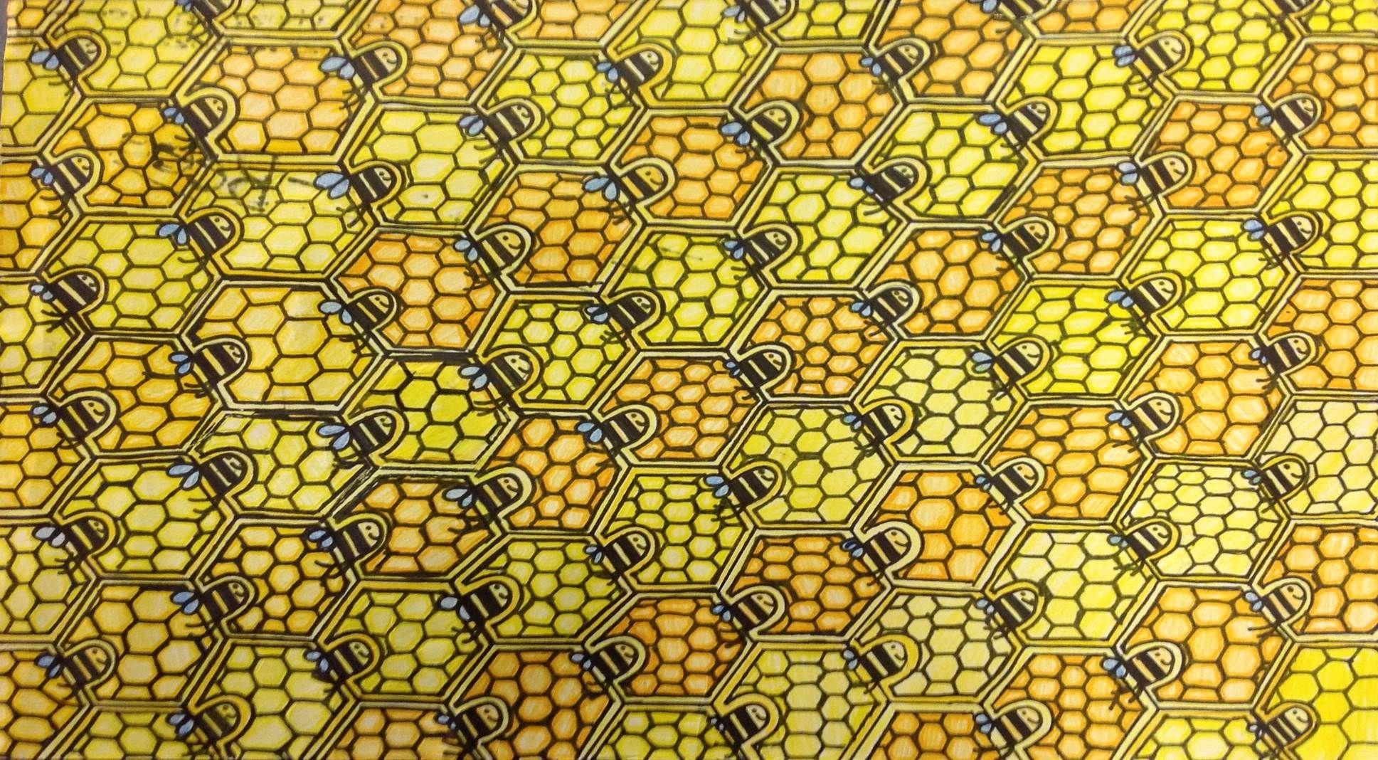 Tessellation Artwork Inspired By Escher