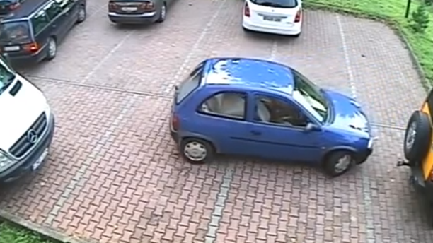Hilarious Video Of Driver Trapped In Parking Lot Goes Viral