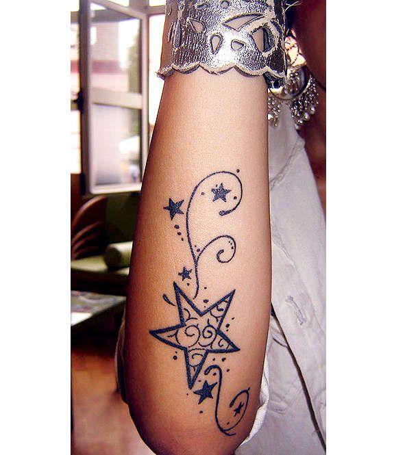 Women S Unique Forearm Tattoos: Unique Star Tattoos Designs (37)