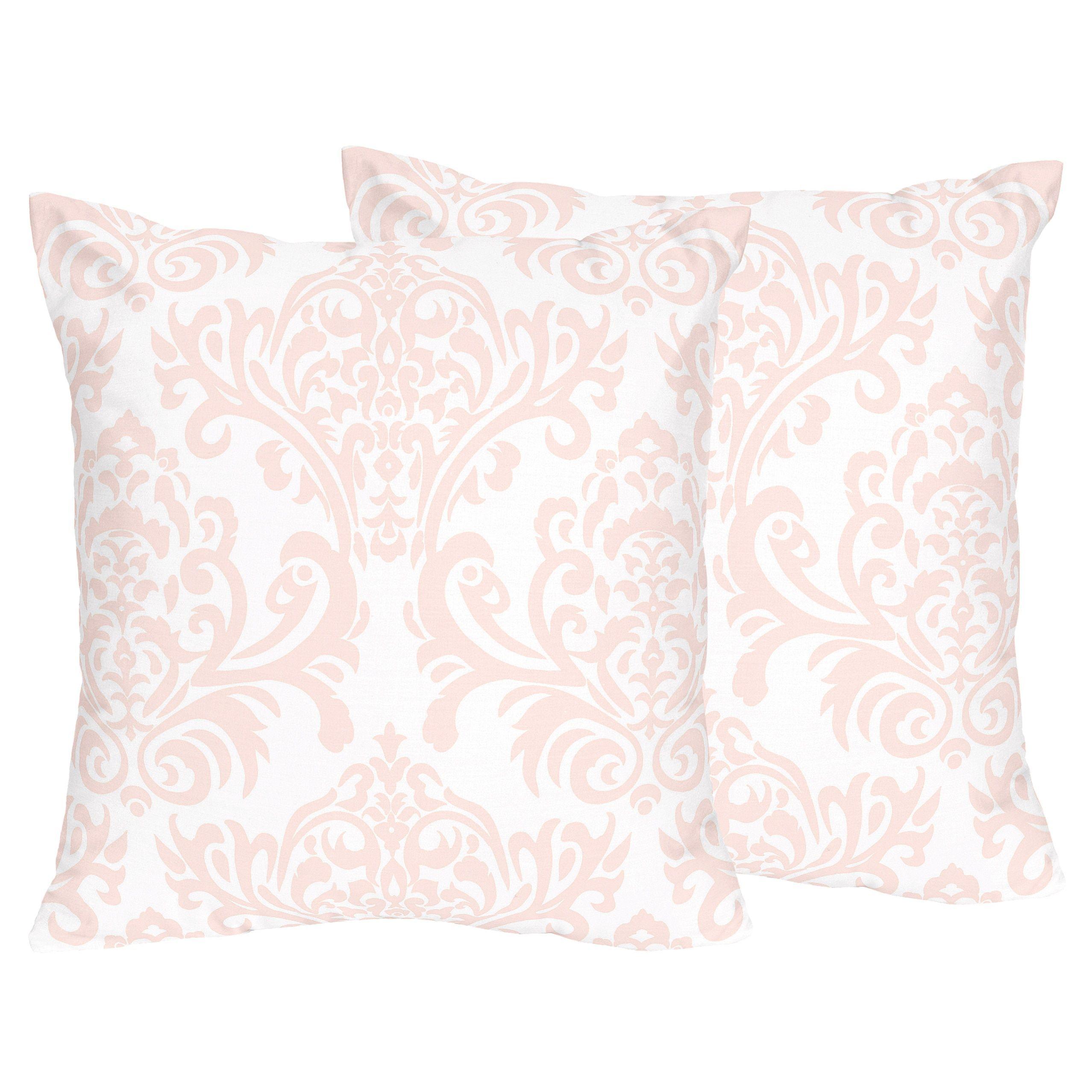 Sweet Jojo Designs Amelia Collection Pinkwhite Damask Print 18 Inch Accent