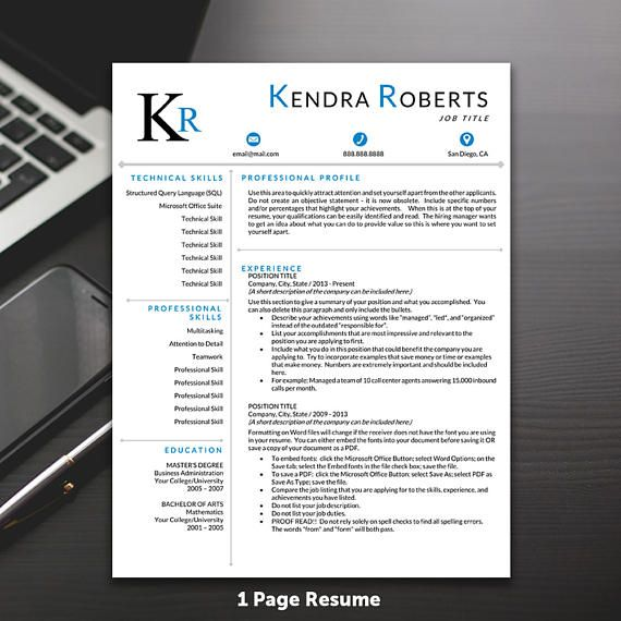 Resume Template Professional Resume Template Modern Resume - popular resume templates