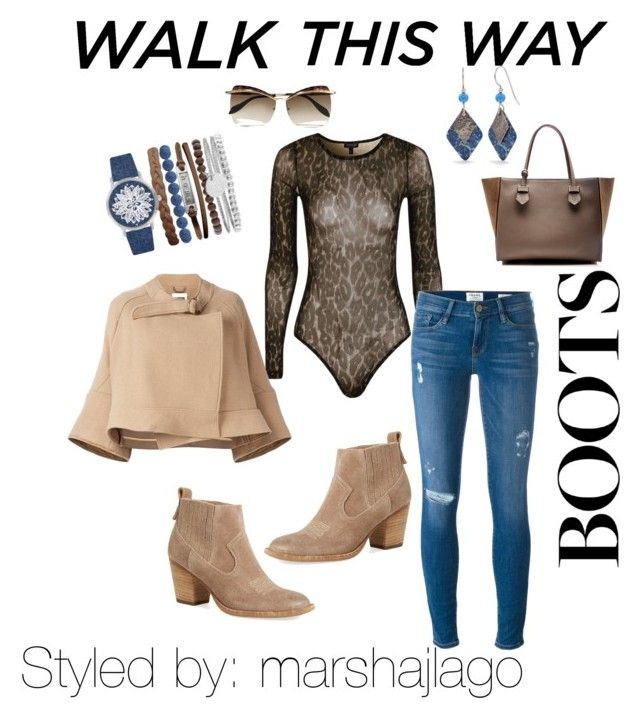 """""""Chelsea Boots 4"""" by marshajlago on Polyvore featuring Dolce Vita, Topshop, Frame Denim, Chloé, Silver Forest, Alexander McQueen, Moreau and Jessica Carlyle"""
