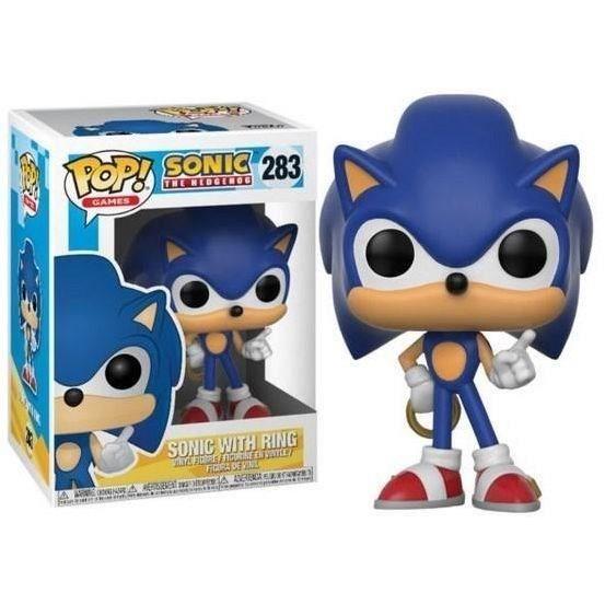 Standard 20146 Funko- Figurine Pop Vinyl Games Sonic w//Ring Multi-Color
