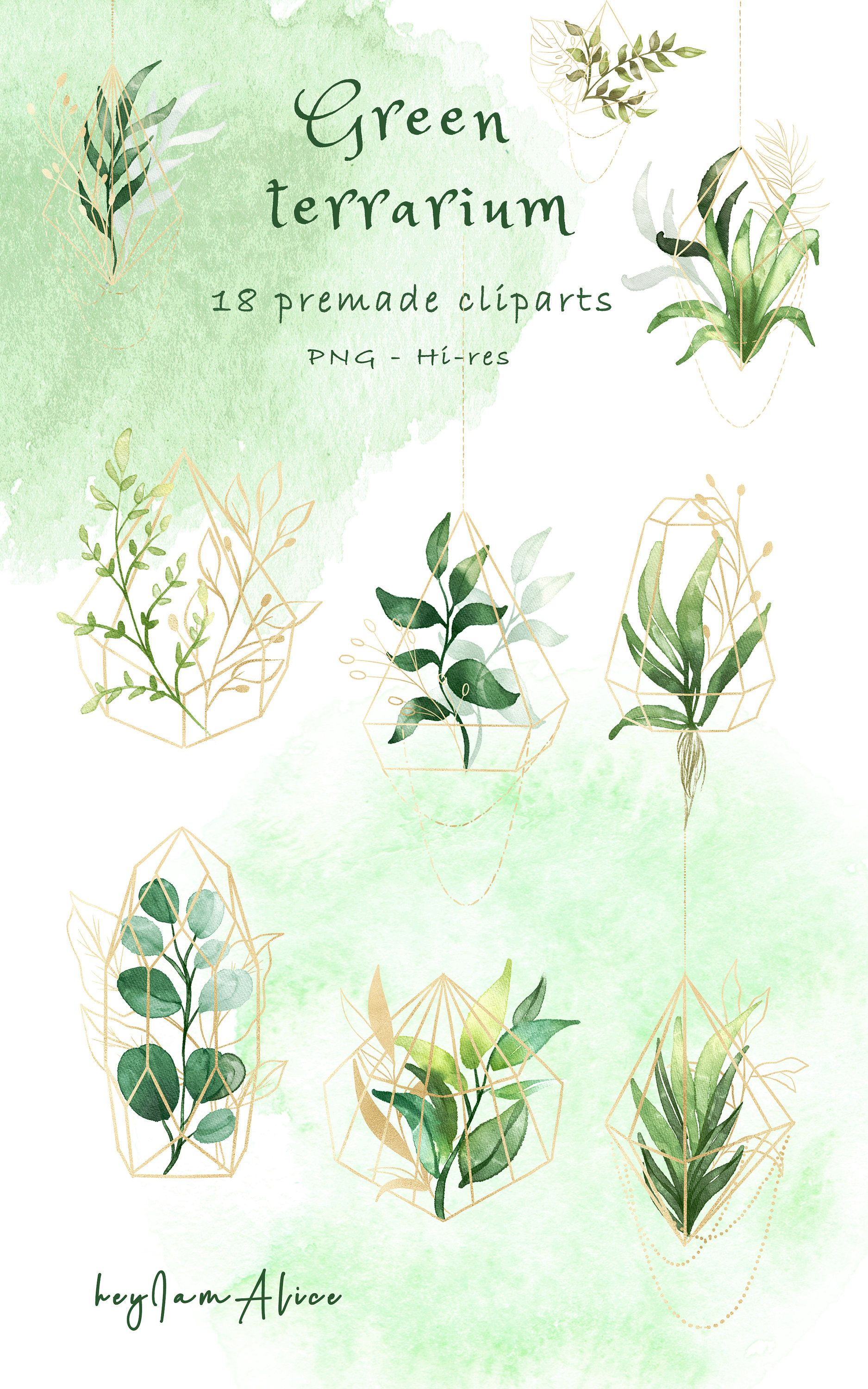 Greenery Watercolor Clipart Foliage Clipart Free Commercial Etsy In 2020 Clip Art Watercolor Clipart Lemon Watercolor