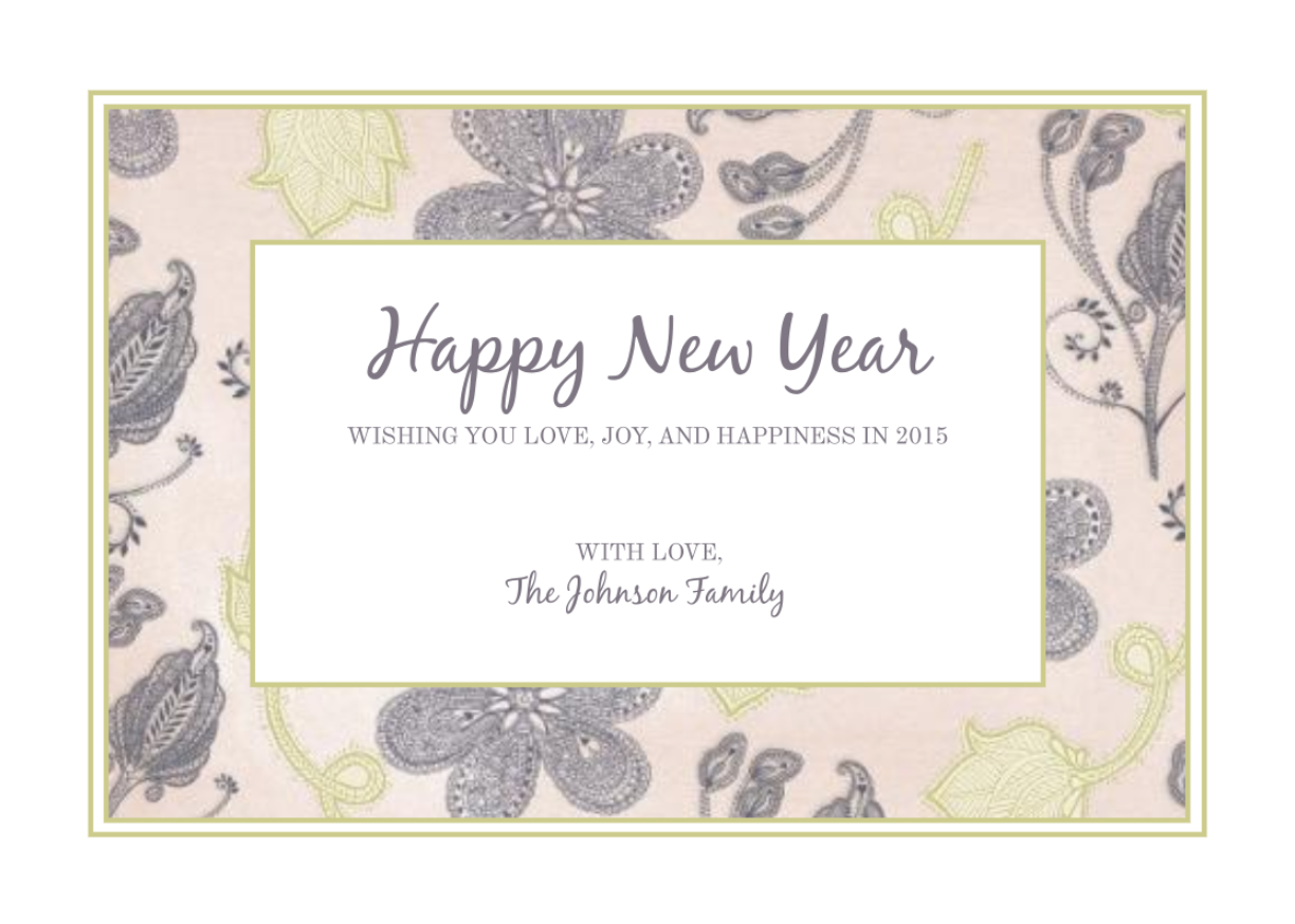 Photo Happy New Year Card 5x7 Holiday Card Template Happy Holiday Cards Printable Holiday Card