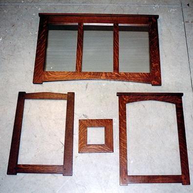Custom Mission Oak Frames