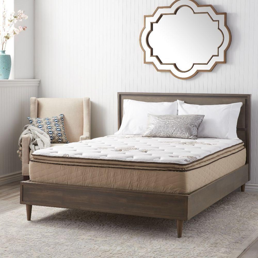 Nuform Quilted Pillow Top 11 Inch Queen Size Plush Foam Mattress
