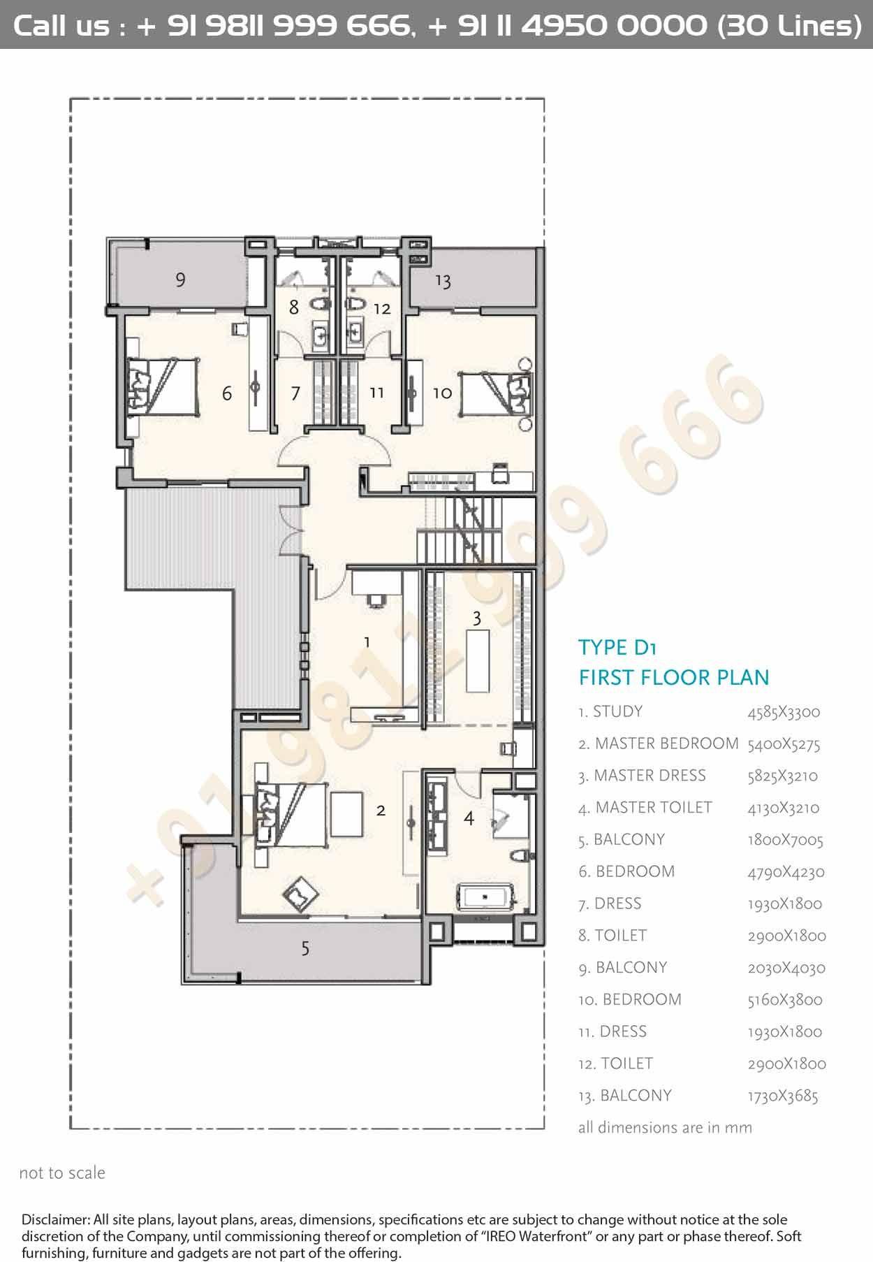 Type D1 First Floor Plan Floor Plans House Construction Plan Apartment Floor Plans