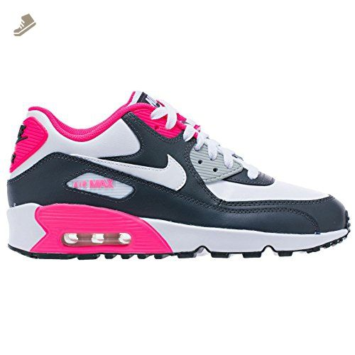 timeless design 8ebc2 3e821 ... italy nike air max 90 letter big kids style shoes 833376 anthracite  white hyper pink metallic ...