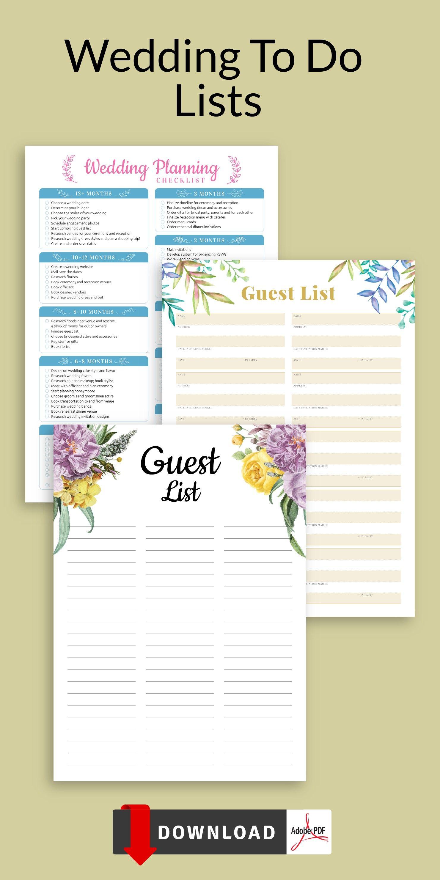 Wedding To Do Lists Wedding Planning To Do List To Do List Layout Wedding To Do List To Do List Wedding Planning Checklist Wedding to do list template