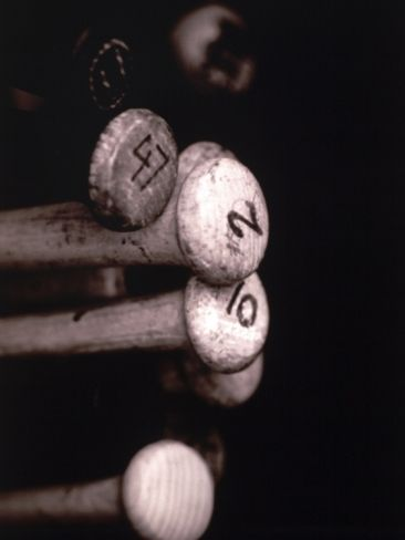Close Up/Baseball Bats Photographic Print by Jose Molina at Art.com