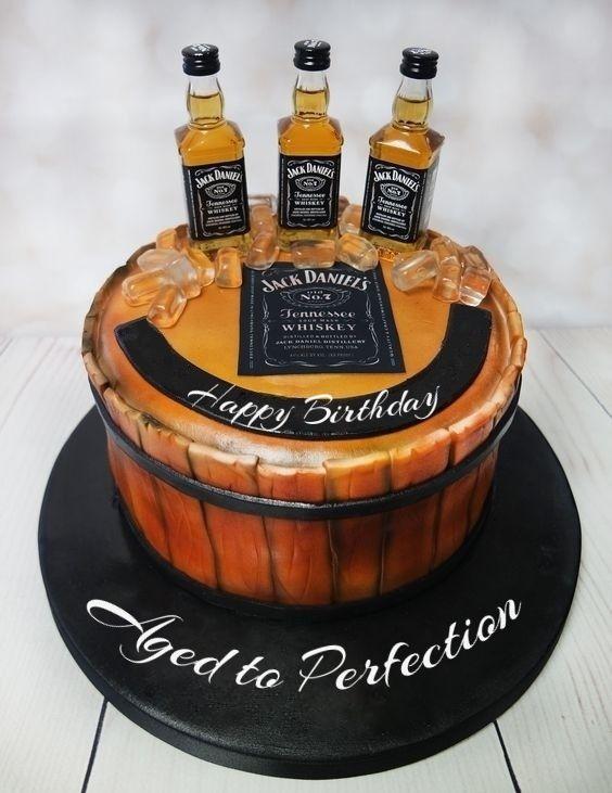 Happy Birthday Jack Daniels Cake Ok For Man Custom Editing And