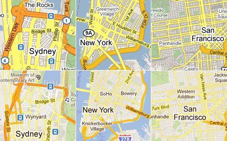 Google Maps Evolution (2009 vs  2011) | Maps | Map, Map
