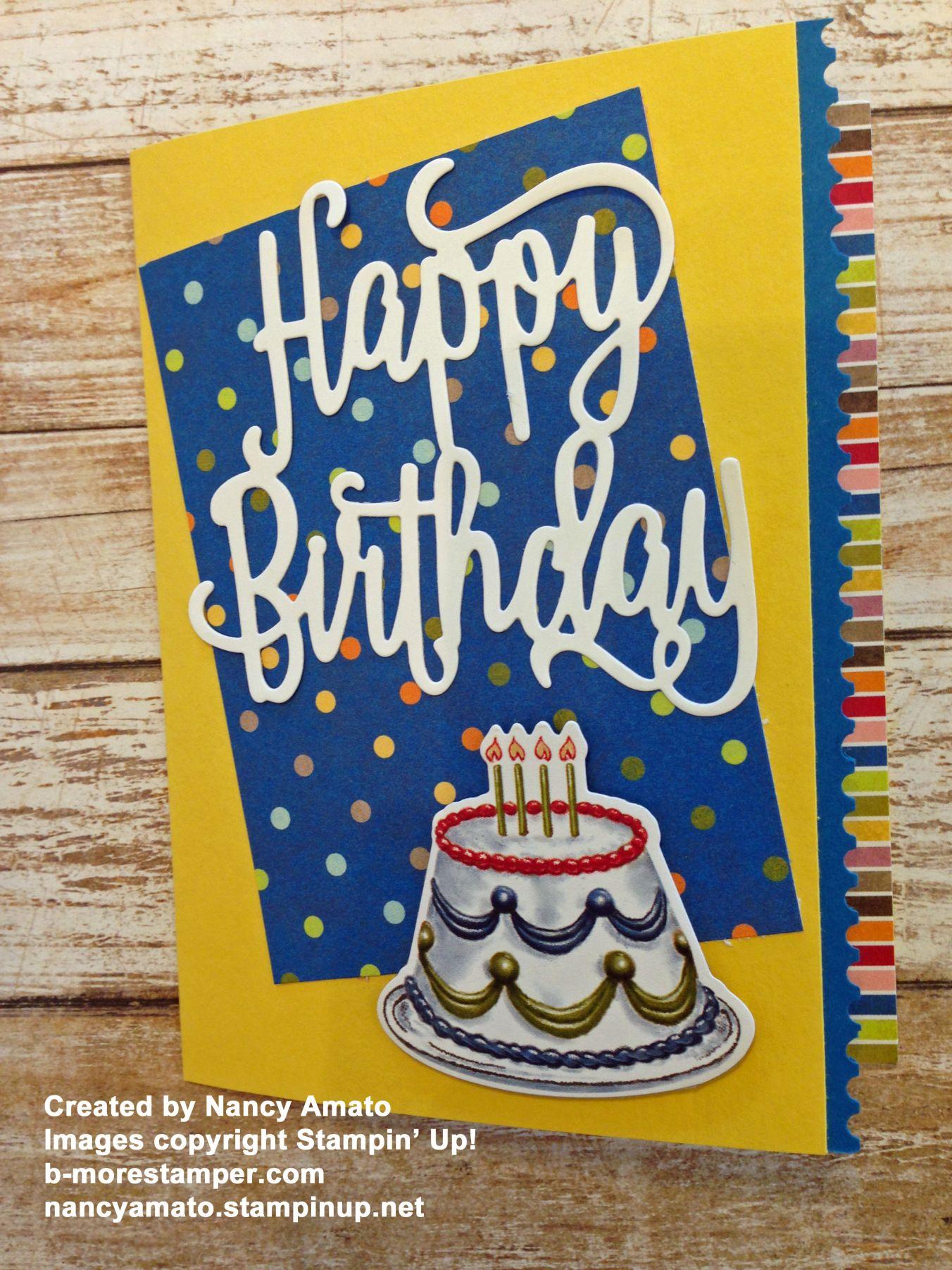 Bright and Cheery Birthday Card using the Birthday